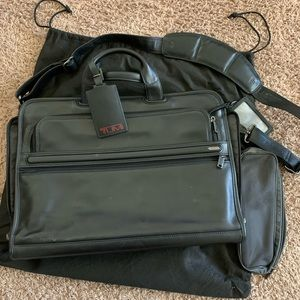 Tumi Leather Computer Bag